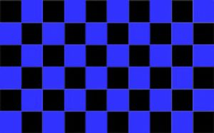 Black and Blue Checkered Large Flag - 5' x 3'.